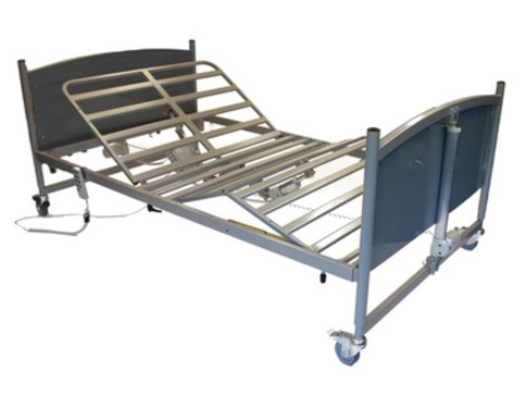 Drive Bariatric FS Bed in Grey No Side Rails | Western Equipment ...
